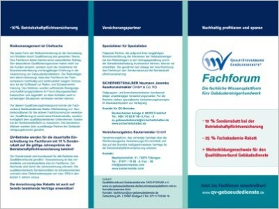 Logo Flyer QVG Fachforum